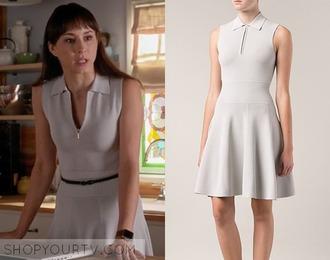 dress 6x16 pretty little liars white dress short dress zip zipper dress
