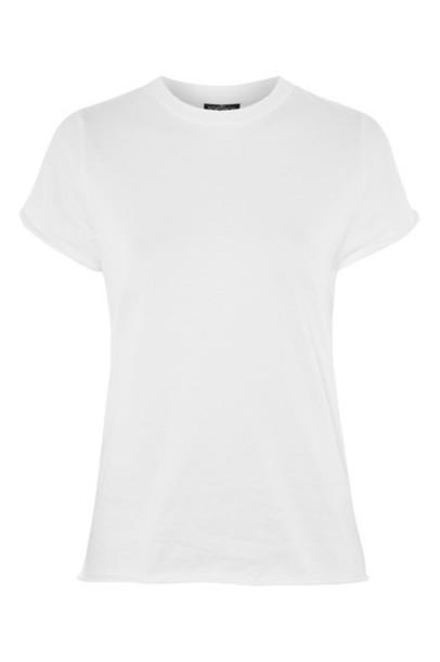 Topshop t-shirt shirt t-shirt back white top