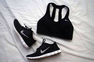 black bra black sneakers