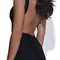 Open back bandage dress black