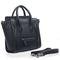 Discount designer celine luggage nano tote shoulder bag in black pebbled leather