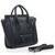 Discount Designer Celine Luggage Nano Tote Shoulder Bag in Black Pebbled Leather