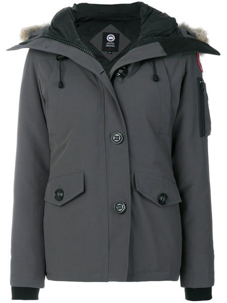 canada goose jacket fur women cotton grey