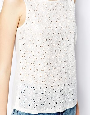 Only | Only Broderie Anglaise Tank Top at ASOS