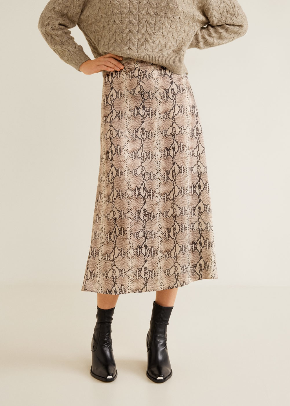 Snake print skirt - Women | MANGO USA