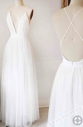 dress,white. dress. long. low fronts and back