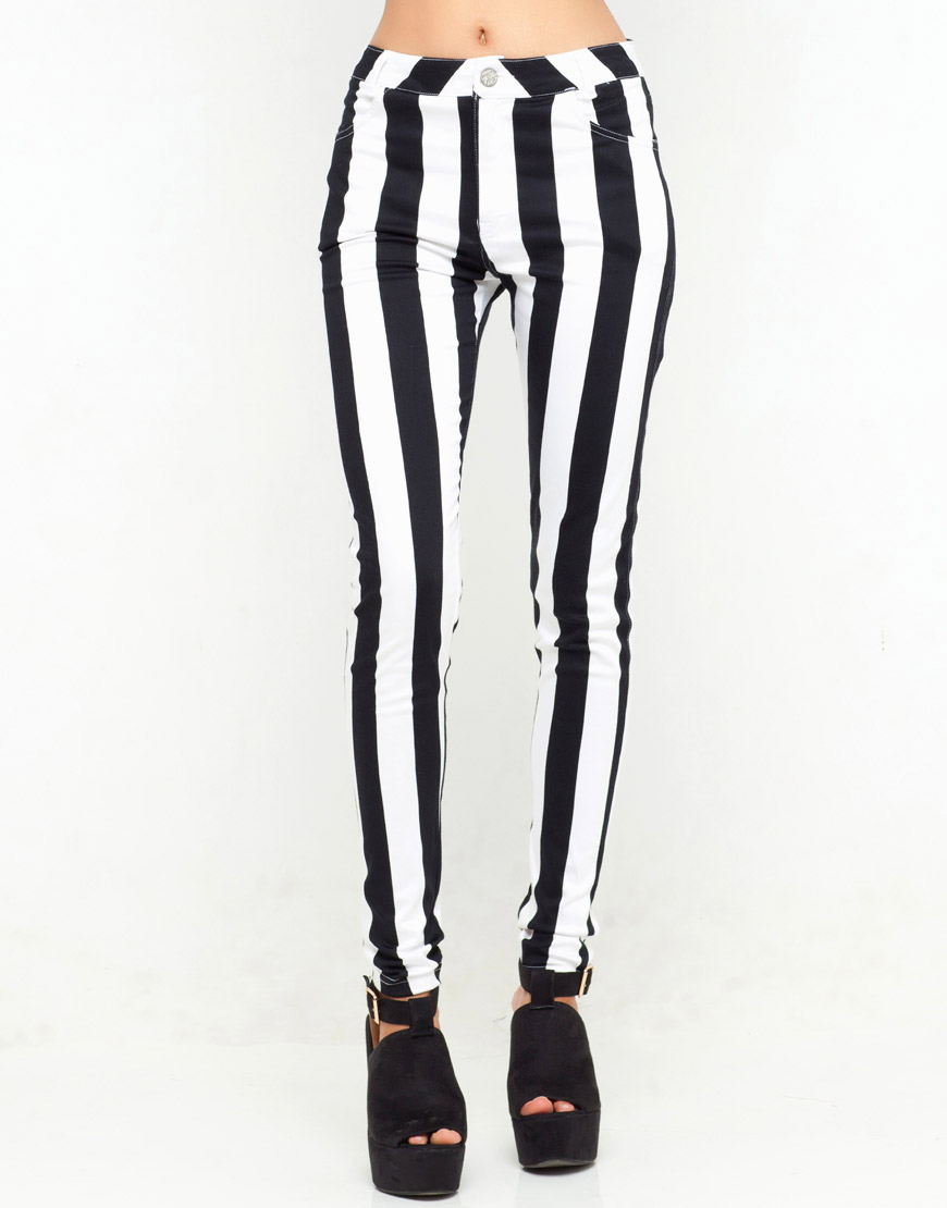 Bleeding Heart Slim Striped Denim Skinnies Black And White Stripe Skinny Jeans Find this Pin and more on Black and White Striped Jeans by Stripe Fans. Established in Blue Banana is the home of essential alternative & emo clothing.