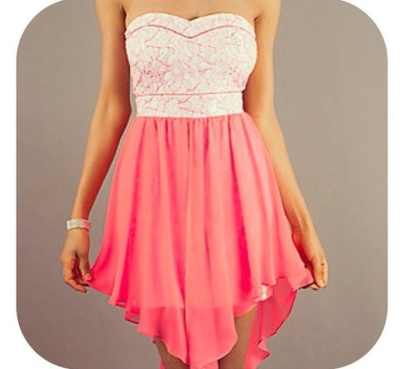 dress slit pink sweetheart neckline white dress knee length hot pink dress