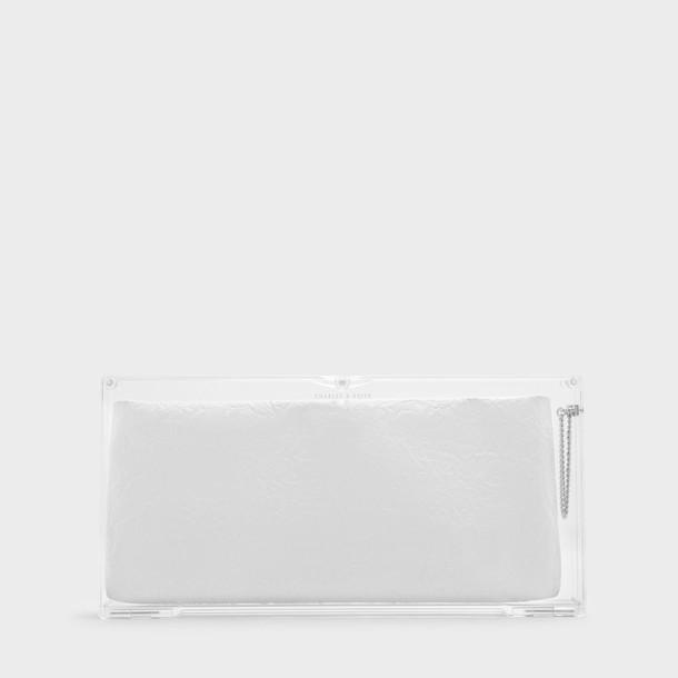 bag clutch white