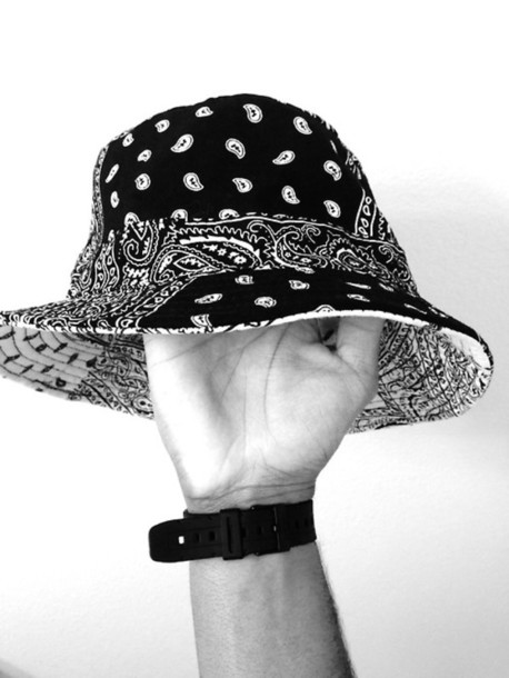 Bucket Hats Black And White White Unisex Bucket Hat