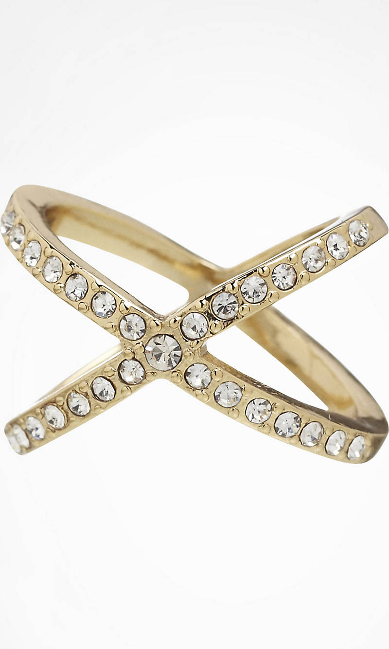 PAVE CRISSCROSS RING from EXPRESS