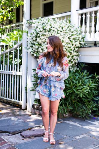 sequins and stripes blogger romper shoes sunglasses bag