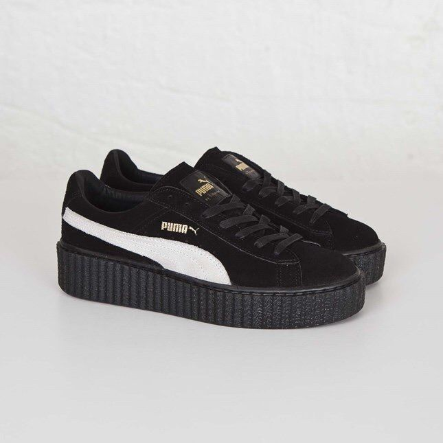 puma suede creepers fenty by rihanna black black 361005 01. Black Bedroom Furniture Sets. Home Design Ideas
