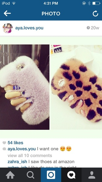 phone cover leopard print cute love furry soft iphone cover ipod touch cases