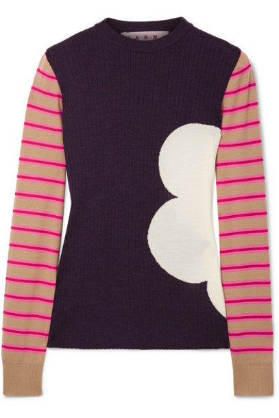 MARNI sweater wool sweater wool red
