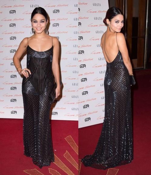 dress prom dress gown glitter dress glitter vanessa hudgens sparkly sparkly dress bag jewels
