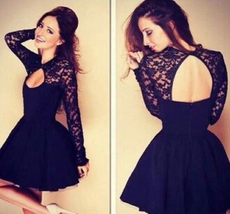 dress lace dress litleblackdress little black dress backless