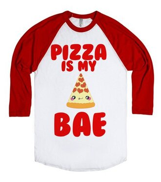 t-shirt pizza love food bae funny shirt fast food eat heart