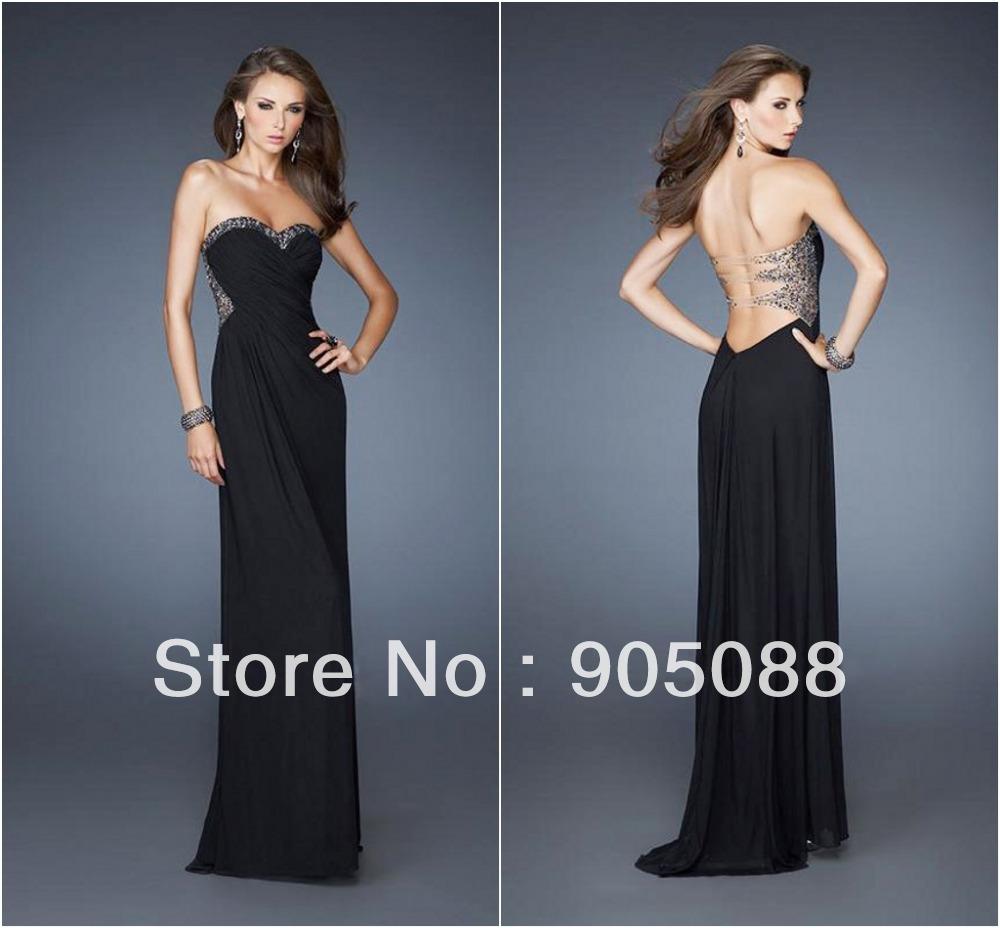 Aliexpress.com : Buy Fashionable Strapless Custom Made Empire BLack ...