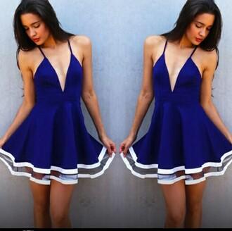 dress sailor dress royal blue dress white dress style summer dress
