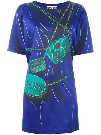 dress mini women blue