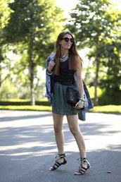 b a r t a b a c,skirt,top,jewels,bag,sunglasses,jacket,shoes