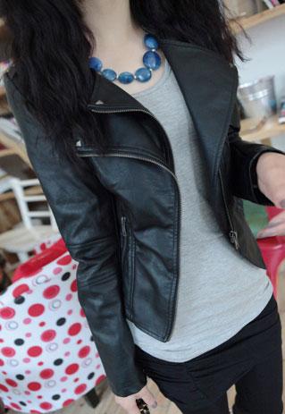Roman style simple revers deux couches jacket