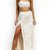 Sequined Tied Back Crop Bandeau Two Piece Set