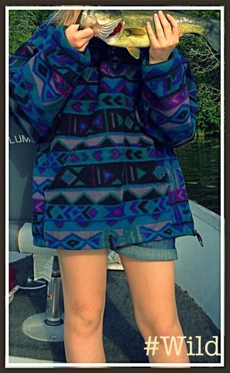 boon docks wild wild spirit aztec nature blue fish bohemian sweater wilderness explorer fishing summer outfits 80s style old school jacket