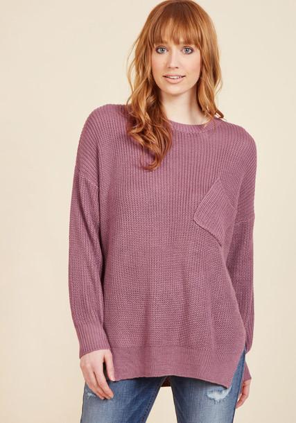 C8199 top oversized soft stylish purple