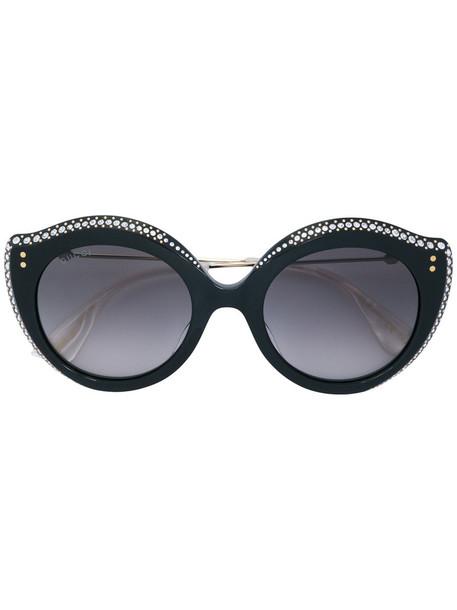 Gucci Eyewear metal women sunglasses black