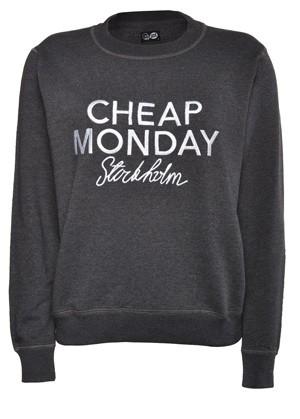 Cheap Monday Ellie Sweatshirt Black Melange - Sweatshirts | COUTIE