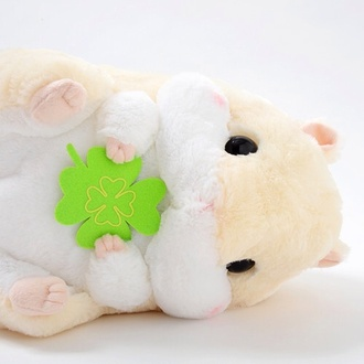 hamster japanese asian cute kawaii animal plushie pastel pale soft cream stuffed animal hat