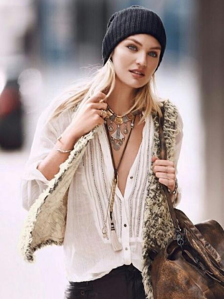 tank top top white top hippie boho boho chic girly vintage cardigan vest fur vest boho