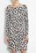 Leopard print jersey long sleeve dress by love moschino