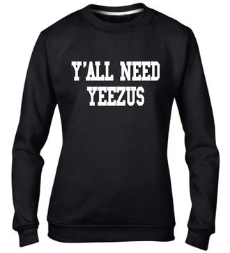 sweater sweatshirt yeezus yeezy kanye west fashion