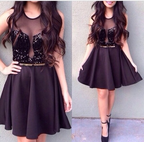 dress glitter wow black dress little black dress cute dress cute dress