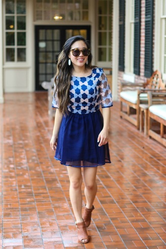 gracefullee made blogger dress sunglasses jewels shoes