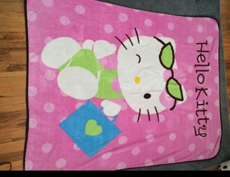 home accessory throw blanket blanket hello kitty