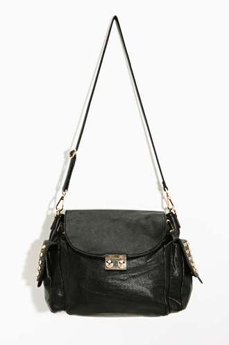 bag stud black satchel hat