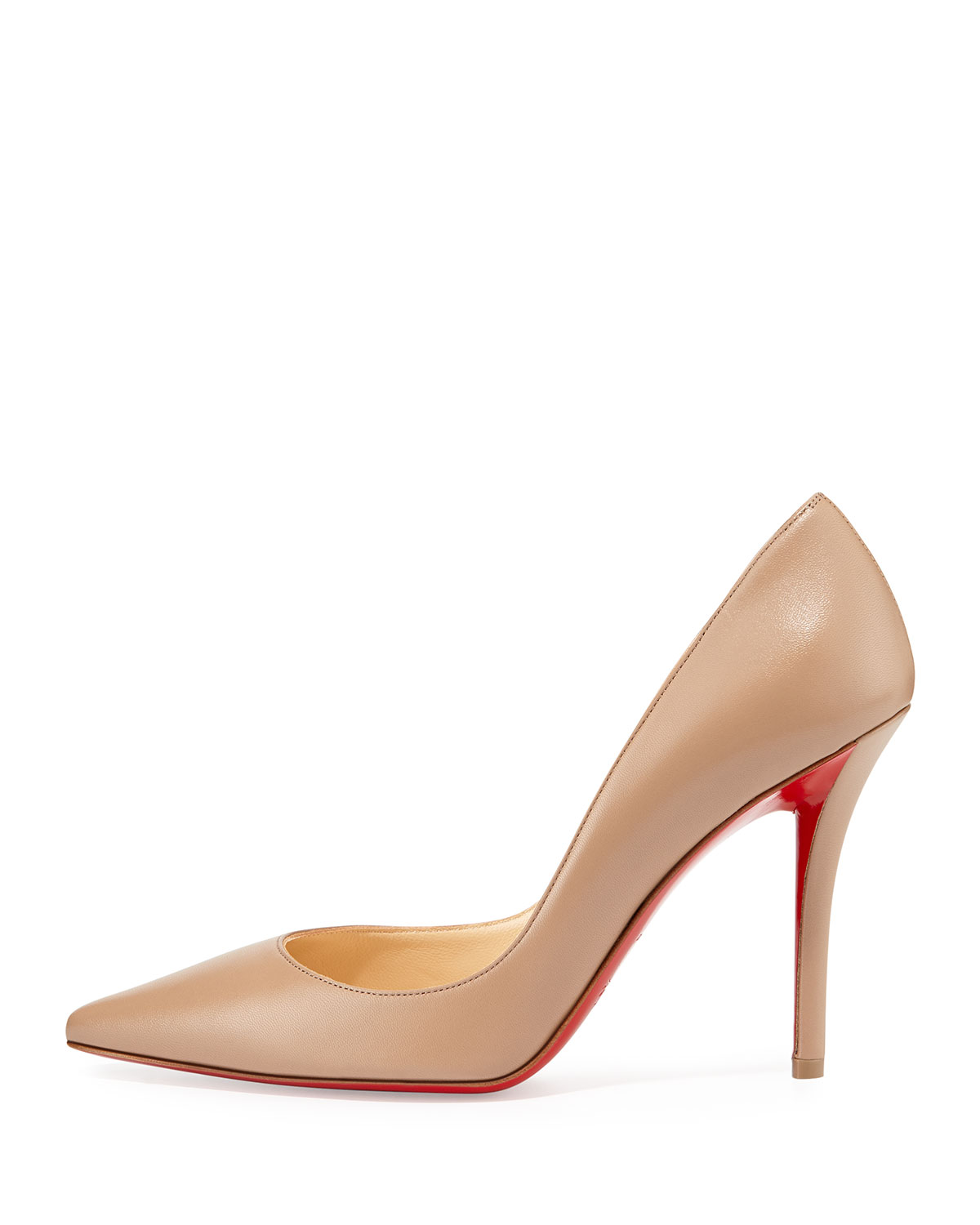 Christian Louboutin Apostrophy Pointed Red-Sole Pump, Neptune