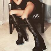 shoes,bottes noires,bottes,platform shoes,platform boots,platforms black fashion