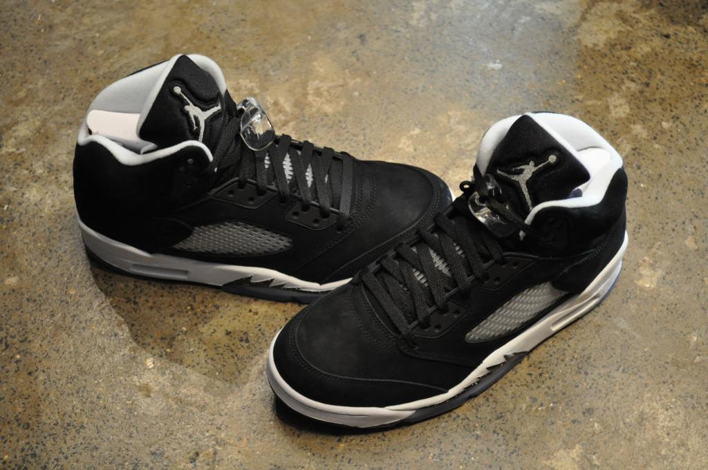 "Nike AIR Jordan 5 Retro ""Oreo"" Black Cool Grey White 
