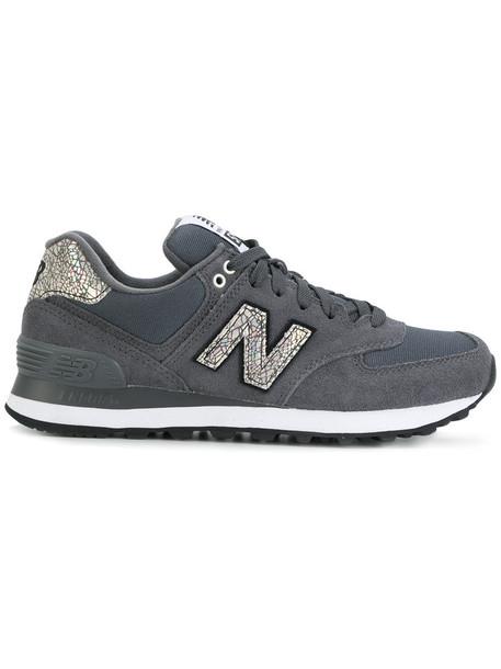 New Balance women sneakers suede grey neoprene shoes