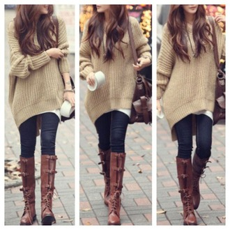 sweater brown sweater hipster swag native american shoes