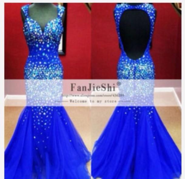 dress royal blue prom dress prom dress mermaid prom dress