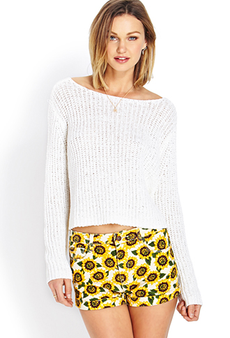 Sunflower Cuffed Denim Shorts | FOREVER 21 - 2000070319