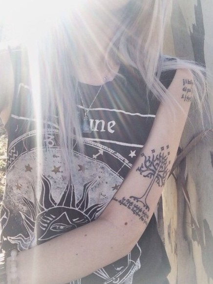 shirt universe stars indie nature hippie sun sun and moon moon top black drawing eye evil eye text