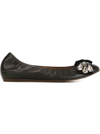 embellished black shoes