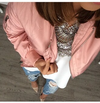jacket rose bomber jacket